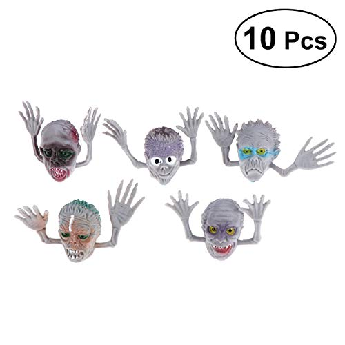 TOYMYTOY Zombie Monster Finger Puppets Toy - Halloween Party Toys Favors, Pack of 10