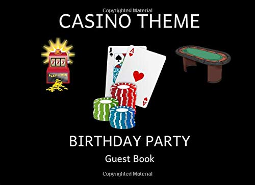 Casino Theme Birthday Party Guest Book