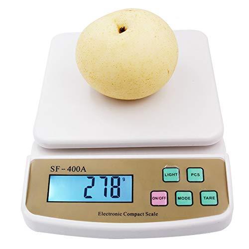 DuDuDu Fruits numériques balances de Cuisine Diète Comptage Pesage Balance électronique avec rétro-éclairage 10 Kg X 1 g