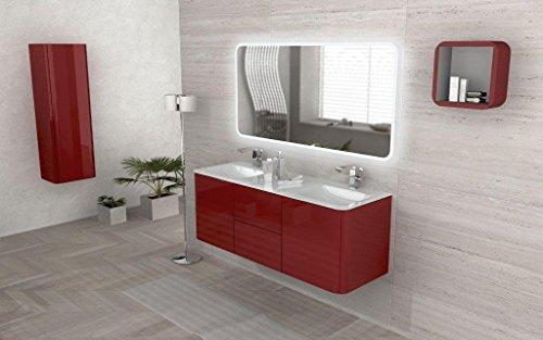 Mobile arredo bagno liverpool sospeso 140 cm doppio lavabo - Arredo bagno amazon ...