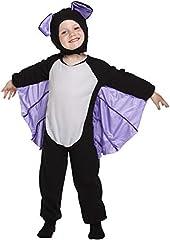 Idea Regalo - HENBRANDT Costume da Pipistrello Enfant Costume età 3 Anni