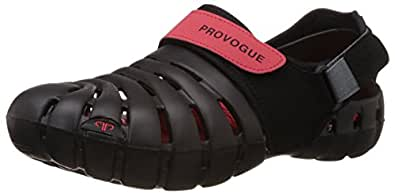 Provogue Men's Black and Red Clogs and Mules - 11 UK