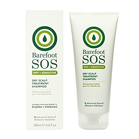 Barefoot SoS Dry und Sensitive Dry Scalp Treatment Shampoo, 1er Pack (1 x 200 g)