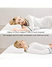 Yuyutsu Memory Foam Cervical Contour Medical Pillow for Sleeping Orthopedic Pillows for Neck Back Pain