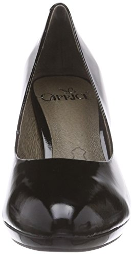 Caprice 22412, Decolleté chiuse donna Nero (Nero (Black Patent 018))