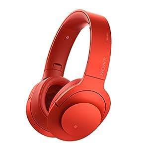 Sony MDR-100ABN High-Resolution Kopfhörer (Headset-Funktion, Noise Cancelling, kabellos, NFC, Bluetooth, 20 Stunden Akkulaufzeit, LDAC) zinnoberrot