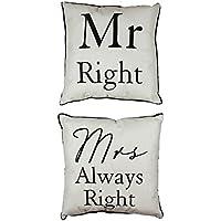 Set di 2Mr Right & Mrs Always Right