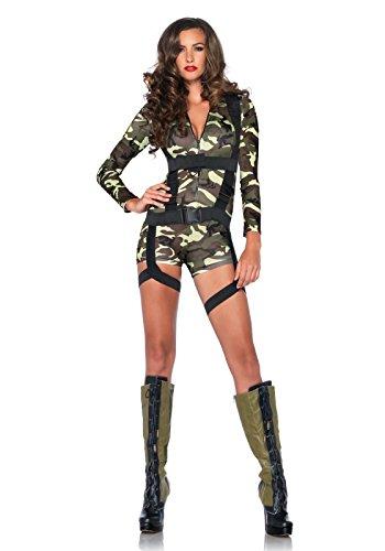 Leg Avenue 85292 - Goin Commando Kostüm Set, 2-teilig, Größe S, camo (Sexy Camo Outfits)