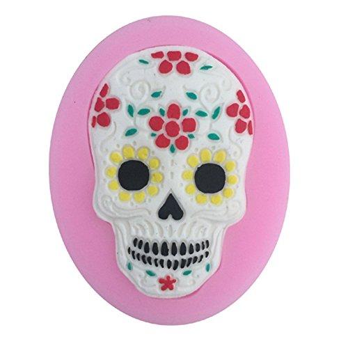 LVEDU Moldes de silicona para Halloween, diseño de calavera,...