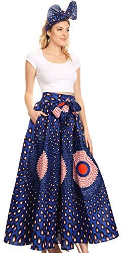 Sakkas 16317 - Asma Convertible Traditional - Wax - Print - Verstellbarer Riemen - Maxirock Kleid - 23-Multi-OS Print Wrap Jacke