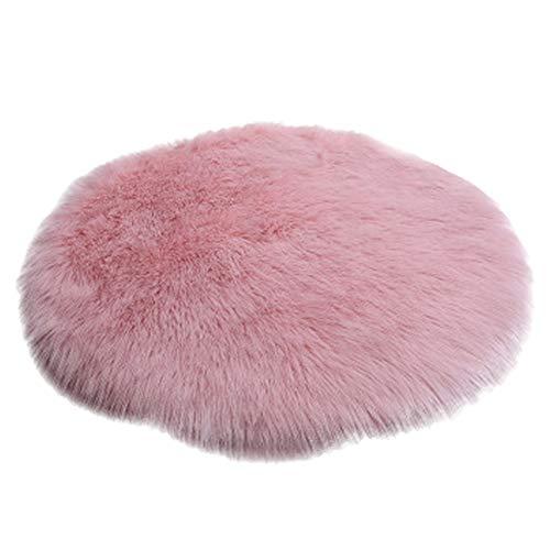 Teppiche Flauschige Schlafzimmer Runde, Schlafzimmer Kinder Wolle, Schlafzimmer Bedside Pink Fußmatten, erhältlich in Einer Vielzahl von Größen (größe : 150x150cm) -