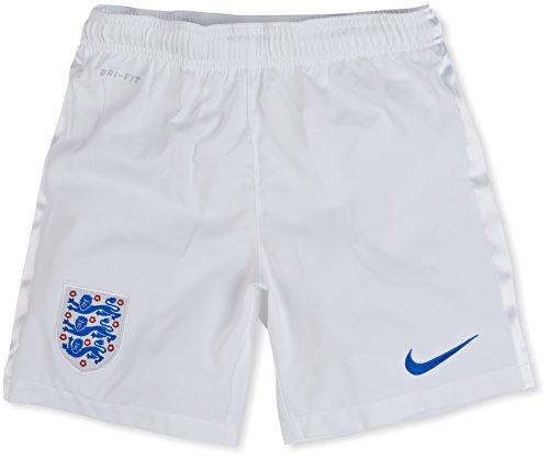 NIKE England 2014 Home Stadium Junior Football Shorts  White Blue  Age 12-13 L
