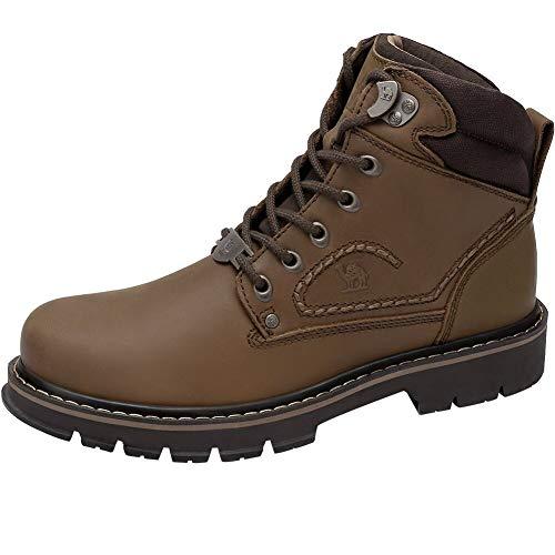 CAMEL CROWN Hombre Botas Chelsea de Cuero Zapatos para Hombre...