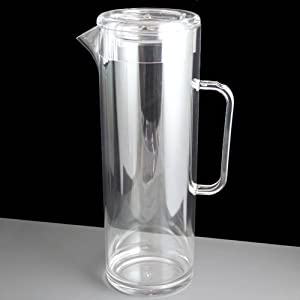 Virtually Unbreakable Plastic 3 Pint / 1.7L Pitcher or Jug with Lid
