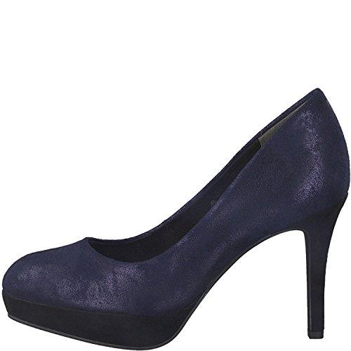 Tamaris 1-22414-21 Schuhe Pumps Plateau Stiletto, Schuhgröße:37, Farbe:Blau Stiletto Pumps Schuhe