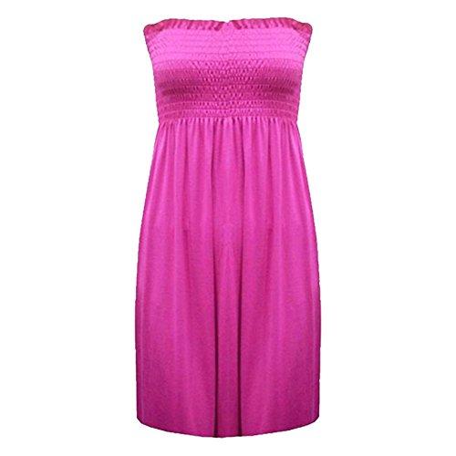 Fashion 4 weniger Damenleggings, Plus Size gedruckt Sheering Trägerloses Bandeau Top, 22, 8 Kirschrot