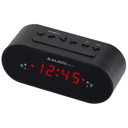 Majestic RS 135 - Radiosveglia FM PLL, 10 stazioni radio memorizzabili, doppio...