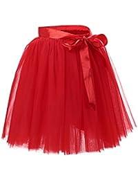 Babyonline® 6 Schichten Petticoat Unterrock Elastic Bund Tutu Prinzessin Tüllrock Für Karneval, Party und Hochzeit
