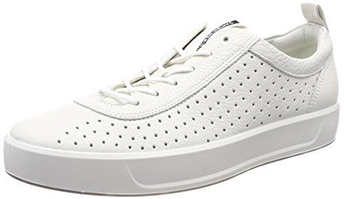 ECCO Herren Soft 8 Sneaker, Weiß (White), 42 EU