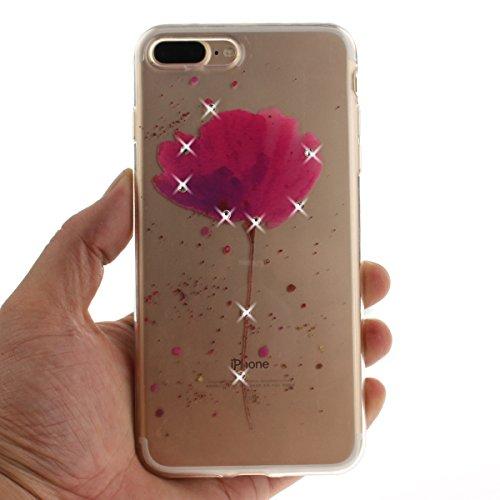 "MOONCASE iPhone 7 Plus Coque, [Diamond Painting] Flexible Silicone Bling Housse Ultra Slim Anti-choc Protection Case pour iPhone 7 Plus 5.5"" B-Flower Orchid"