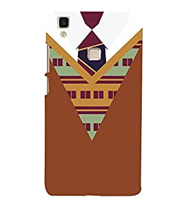 College Winter Dress Pattern 3D Hard Polycarbonate Designer Back Case Cover for VIVO V3 MAX
