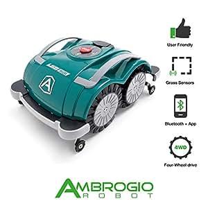 Ambrogio Robot AM060D0K8Z Rasaerba Robot L60 Deluxe senza Installazione, Verde, 44 x 36 x 20 cm