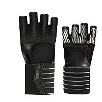 TZTED Sollevamento Pesi Crossfit Guanti Per Calisthenics Ginnastica  Artistica Bodybuilding Corda Allenamento Protezioni Mani Per Uomini 3186d02b9e3b