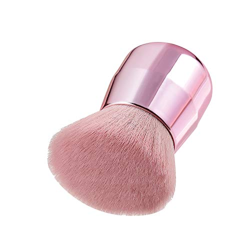 SHENYUAN-Makeup brush Spazzola portatile inclinabile in polvere rosa Spazzola portatile grande for trucco Spazzola in polvere al miele Spazzola arrossata a carica (Color : Rose Gold)