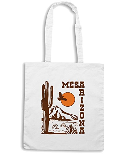 T-Shirtshock - Borsa Shopping TSTEM0061 mesa arizona Bianco