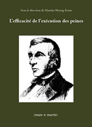 L'efficacité de l'exécution des peines