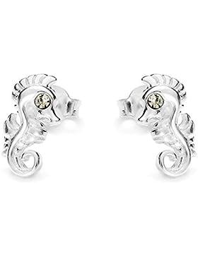 butterfly Mädchen Ohrstecker echt Silber klar Swarovski Elements original Seepferdchen Geschenkverpackung, Geschenkideen...