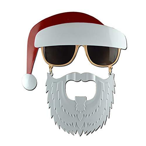 Xiton Neuheit glitzerte WeihnachtsDekoration Fancy Frames Party Accessoire Brillen-Santa Claus