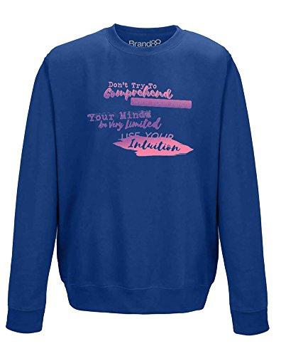 (Use Your Intuition, Erwachsene Gedrucktes Sweatshirt - Königsblau M = 102cm)