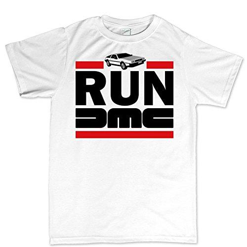 (RUN DMC Delorean Car Time Machine T shirt)