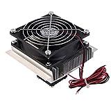 Gugutogo Thermoelektrische Peltier-Abkühlungs-Abkühlungs-Kühlvorrichtung-Ventilator-System-Kühlkörper-Installationssatz, Silber u. Schwarzes