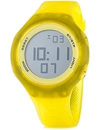 PUMA TIME - Reloj digital de cuarzo, unisex, correa de plástico, color amarillo