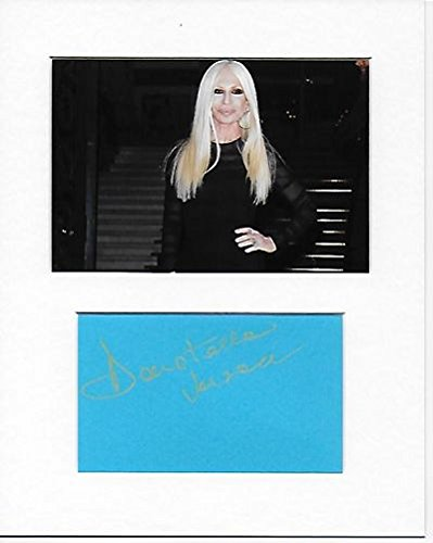 Versace-Donatella Versace Genuine Authentic Hand Autogramm AFTAL COA