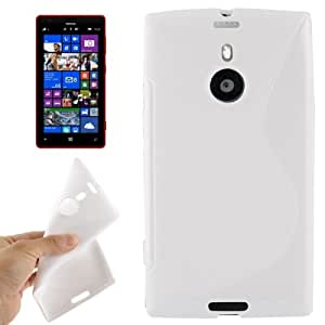 S Line Anti-skid Frosted TPU Protective Case for Nokia Lumia 1520 / Bendit (White)