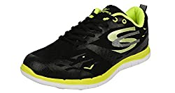 Campus SPEEDRIDE Model, Black and Green Color Men Sports Running Shoes (Size -8 UK)