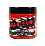 MANIC PANIC Cream Formula Semi Permanent Hair Color Electric Lava