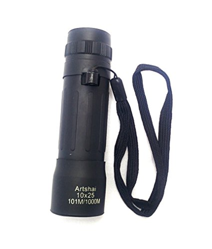 Artshai high quality Small handheld Outdoor Monocular, 10x magnification telescope
