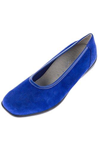 Ulla Popken Femme Grandes tailles Ballerines 697271 Bleu Saphir