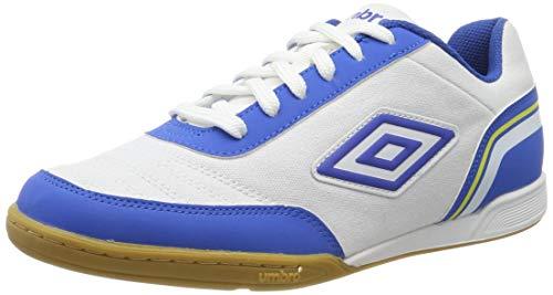 Umbro Futsal Street V, Scarpe da Calcetto Indoor Uomo, Bianco (White/Tw Royal/Electric Blue/Blazing Yellow FNW), 40 EU