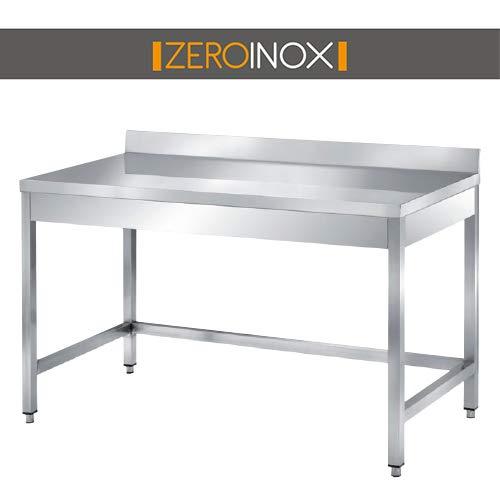 ZeroInox Professioneller Edelstahl-Tisch mit Etage, alle Maße, Tiefe 60 cm. Küche Catering Restaurant Pizzeria Hotel