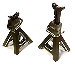 Integy Rc Hobby C26409 Gun Realistic Model 6 Ton Jack Stands (2) For 1/10, 1/8 Scale & Rock Crawler