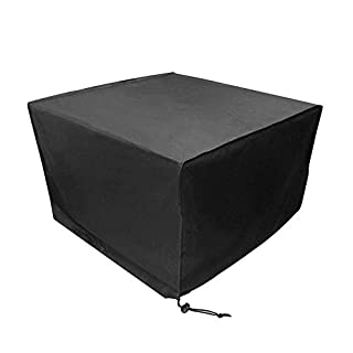 Vinteky Outdoor All Weather Furniture Cover, Waterproof Rain Cover Garden Cases Shelter Square Patio Rattan Wicker Tables Chairs Dining Cube Sofa Sets Protection Black 126x126x74cm
