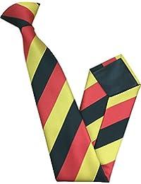 Herren Clip auf Krawatte - Deutschland Staatsflagge Streifen