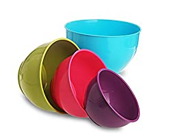 All Time Plastics Classic Mixing Bowl Set, 4-Pieces, Multicolour