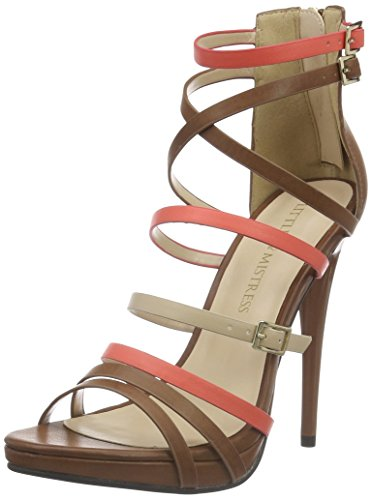 Little Mistress Theia, Escarpins femme Multicolore - Mehrfarbig (Tan, Coral, Beige)