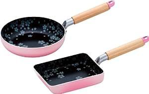 Temps de paix phrase fixe de cerise pour IH po?le ? frire 20cm et 13 x 18cm omelette SM-9201 (Japon import / Le paquet et le manuel sont en japonais)